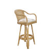 This item: Key West Patriot Ivy Indoor Swivel Rattan and Wicker 30-Inch Barstool in Natural Finish