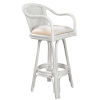 This item: Key West Ocean Drive Indoor Swivel Rattan and Wicker 24-Inch Counter stool in Whitewash Finish