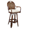 This item: Classic York Peacock Swivel Rattan and Wicker 30-Inch Barstool