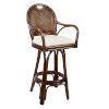 This item: Classic Patriot Birch Swivel Rattan and Wicker 30-Inch Barstool