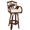 This item: Cancun Palm Patriot Birch Swivel Rattan and Wicker 24-Inch Counter stool