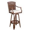 This item: Polynesian York Dove Swivel Bamboo and Rattan 30-Inch Barstool
