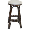 This item: Polynesian York Dove Indoor Swivel Rattan and Wicker 30-Inch Barstool in Antique Finish