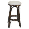 This item: Polynesian Rave Lemon Indoor Swivel Rattan and Wicker 24-Inch Counter stool in Antique Finish