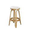 This item: Polynesian Rave Lemon Indoor Swivel Rattan and Wicker 30-Inch Barstool in Natural Finish