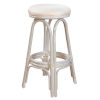 This item: Polynesian York Bluebell Indoor Swivel Rattan and Wicker 30-Inch Barstool in Whitewash Finish