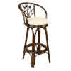 This item: Valencia Patriot Birch Indoor Swivel Rattan and Wicker 30-Inch Barstool in Antique Finish