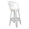 This item: Valencia Patriot Birch Indoor Swivel Rattan and Wicker 24-Inch Counter stool in Whitewash Finish