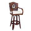This item: Lucaya York Jute Swivel Rattan and Wicker 30-Inch Barstool