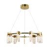 This item: Sorrento Antique Brass Nine-Light Adjustable LED Chandelier