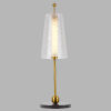 This item: Toscana Antique Brass LED Table Lamp Title 24
