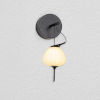This item: Lecce Black LED Wall Sconce Title 24