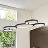 This item: Capella Black 31-Inch LED Adjustable Chandelier