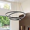 This item: Tania Trio Black LED Adjustable Chandelier