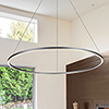 This item: Tania Silver 51-Inch LED Adjustable Chandelier