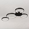 This item: Capella Black LED Semi Flush Mount