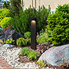 This item: Matt Black and Clear Glass 24-Inch 12V LED Outdoor Bollards