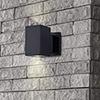 This item: Matt Black Six-Inch 10 Watt LED Outdoor Wall Sconce