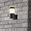 This item: Matt Black LED Seven-Inch Outdoor Wall Sconce