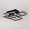 This item: Radium Black 28-Inch LED Semi Flush Mount