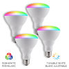 This item: White Wi-Fi RGB 10W LED Bulb, Pack of 4