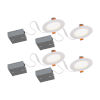 This item: STAK Matte White 5-Inch Integrated LED Recessed Fixture, Pack of 4