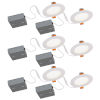 This item: JIB Matte White Integrated LED Recessed Fixture Kit, Pack of 6