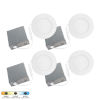 This item: SLIM Matte White LED Recessed Fixture, Pack of 4