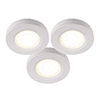 This item: White LED Under Cabinet Puck Light, Set of Three