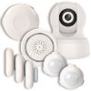 This item: White Smart Wi-Fi Household Alarm Kit with 720p Camera