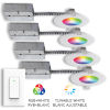 This item: Matte White Wi-Fi RGB LED Recessed Fixture Kit-White with Swith, Pack of 4