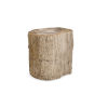 This item: Petrified Brown Wood Side Table