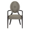 This item: Jet Set Caviar Wood and Fabric 24-Inch Dining Chair