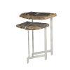 This item: Ardelle Chrome Nesting Tables, Set of 2