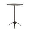 This item: Segovla Black Nickel Chairside Table