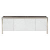 This item: Decorage stainless steel and Silver Mist Entertainment Console