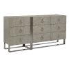 This item: Linea Gray Nine-Drawer Dresser