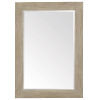 This item: Santa Barbara Sandstone Solid Ash and Mirrored Glass Mirror