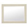 This item: Santa Barbara Sand Wood Fabric and Mirrored Glass Mirror
