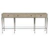 This item: Santa Barbara Sandstone Vintage Nickel Metal Console Table