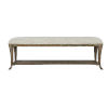 This item: Rustic Patina Distressed White Bench