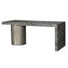 This item: Linea Black and Aluminium Desk