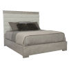 This item: Linea Gray Upholstered Channel King Bed