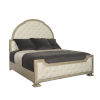 This item: Santa Barbara Sandstone Upholstered Tufted Panel Queen Bed
