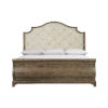 This item: Rustic Patina Peppercorn Upholstered Sleigh California King Bed
