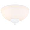 This item: White Two-Light LED Ceiling Fan Light Kit