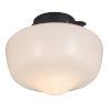This item: Matte Black LED Ceiling Fan Light Kit
