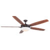 This item: Novato Oil Rubbed Bronze 70-Inch LED Ceiling Fan