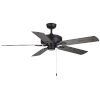 This item: Courtyard Matte Black 52-Inch Two-Light Ceiling Fan