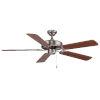 This item: Dalton Nickel 52-Inch Two-Light Ceiling Fan